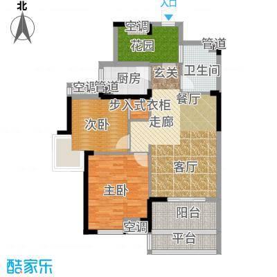 清江山水88.00㎡F户型