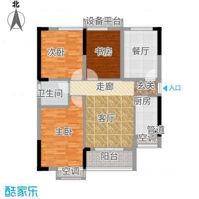 清江山水87.00㎡C户型