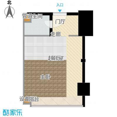 金地雄楚1号49.34㎡公寓户型
