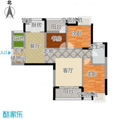 清江山水92.00㎡二期三组团B3户型