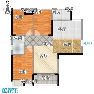 清江山水92.00㎡二期E户型