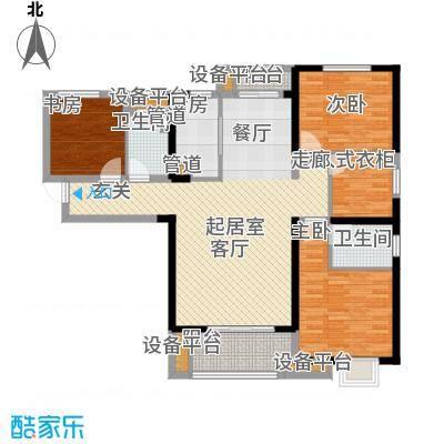 中海琴台华府138.00㎡一期7号楼C户型