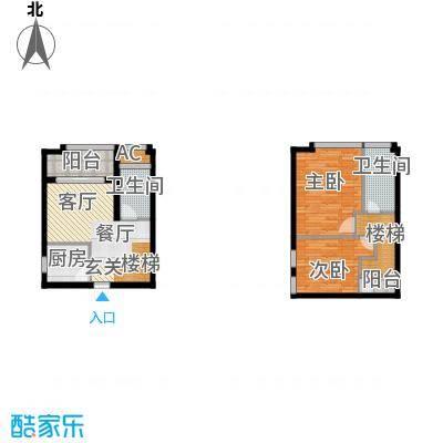 光谷8号51.02㎡6号楼A户型
