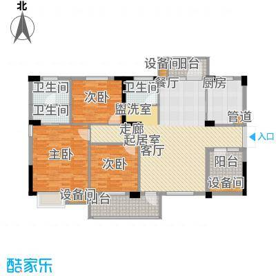 新长江香榭澜溪108.25㎡1、2、6号楼c1户型