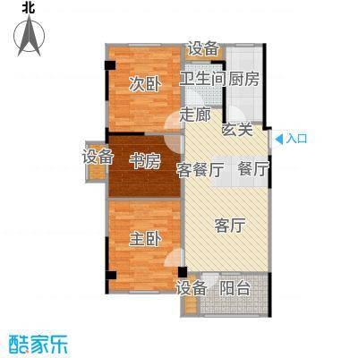汉阳满庭春MOMΛ88.90㎡1、3、6、8#楼C1户型