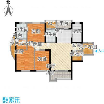 月湖琴声146.00㎡D2栋1、2号房D3栋1、4号房户型