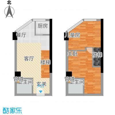 中民长青里42.30㎡2#楼D户型
