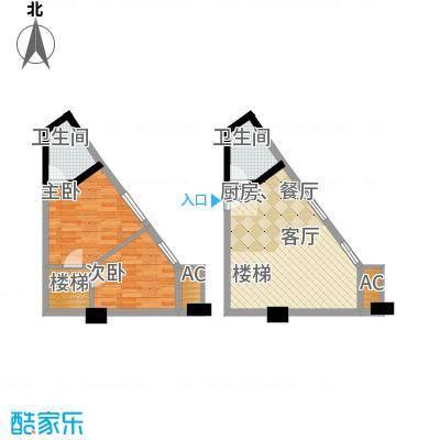 中民长青里44.14㎡2#楼E户型