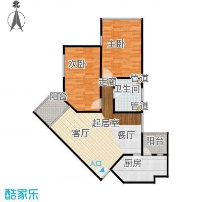 滨江花园83.00㎡面积8300m户型