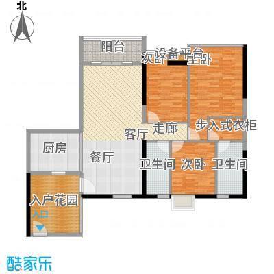 金泽华庭124.54㎡2面积12454m户型