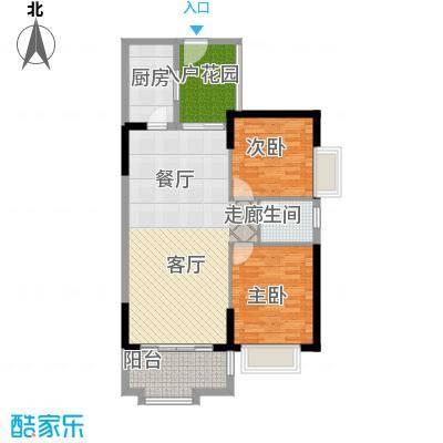 珠江怡景湾89.11㎡4、5号楼01单面积8911m户型