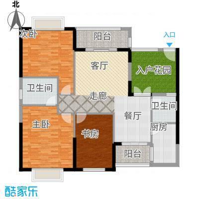 珠江怡景湾130.66㎡4、5号楼03单面积13066m户型