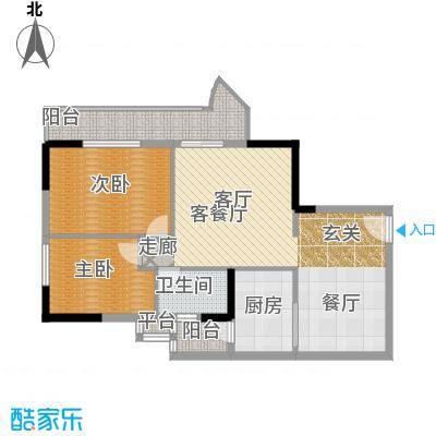 珠江怡景湾85.63㎡1、2、3号楼0面积8563m户型