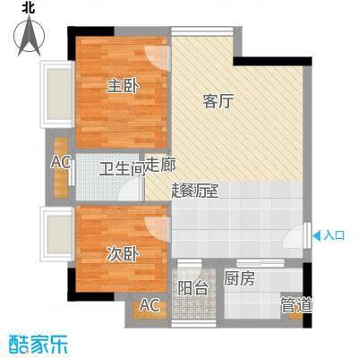 金悦东山国际公馆58.00㎡面积5800m户型