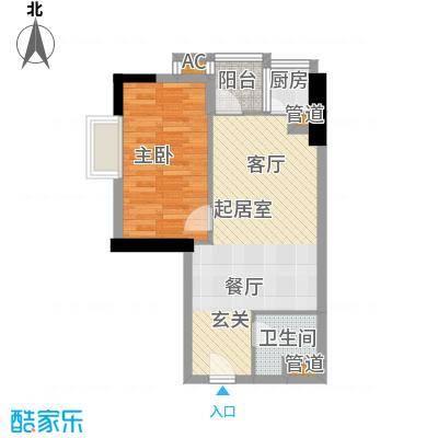 金悦东山国际公馆49.80㎡面积4980m户型
