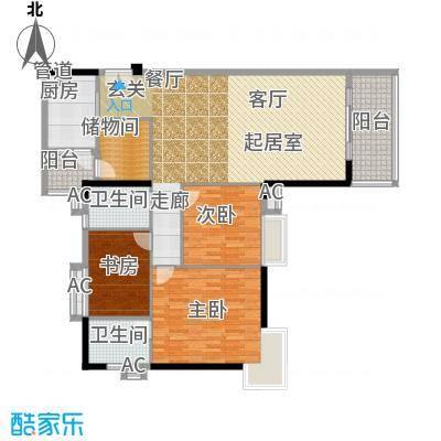 小北御景133.94㎡A座03单元3室2面积13394m户型