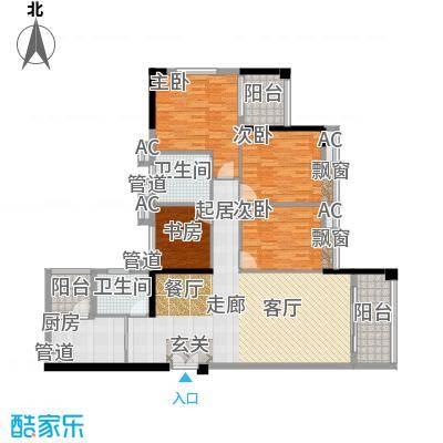 小北御景144.63㎡A座01单元4室2面积14463m户型