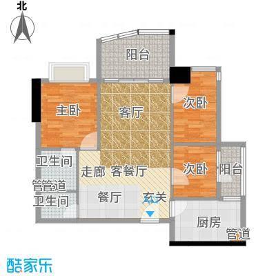 金豪嘉苑90.70㎡面积9070m户型