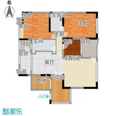 大学城馨园135.85㎡御府D1-01单元面积13585m户型