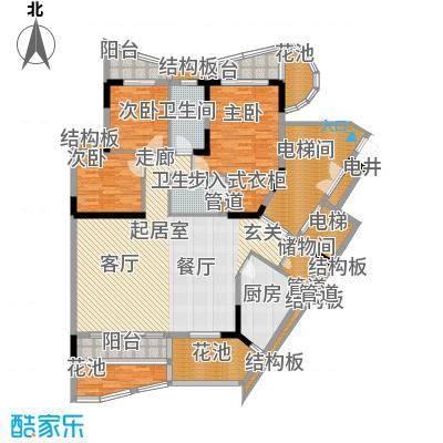 大学城馨园161.40㎡A2栋2-13层01面积16140m户型
