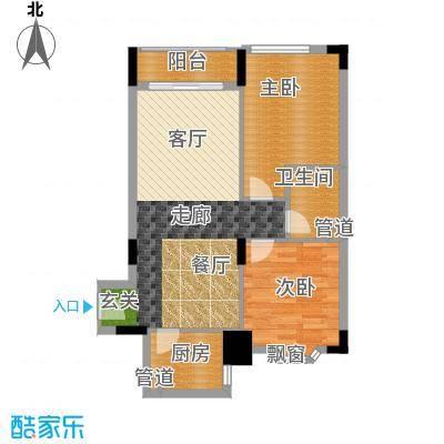 荔尚国际73.04㎡面积7304m户型