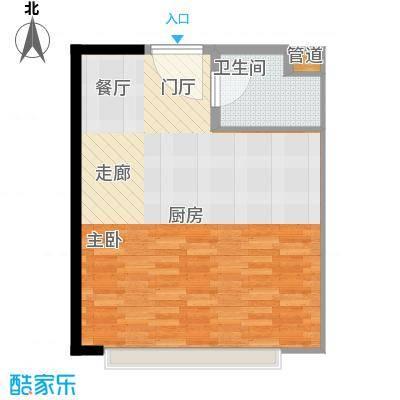 金地雄楚1号51.72㎡公寓户型