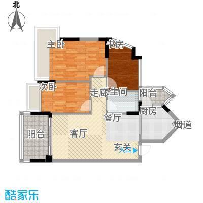 广州雅居乐花园浅山小筑85.00㎡面积8500m户型