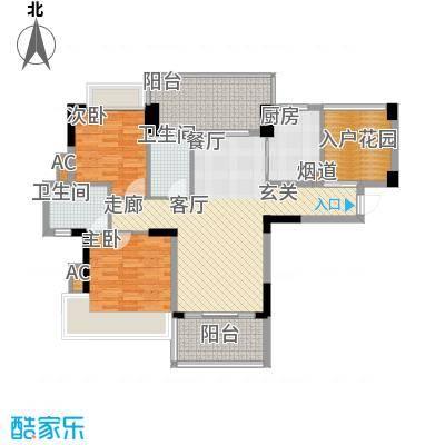 广州雅居乐花园浅山小筑104.00㎡面积10400m户型