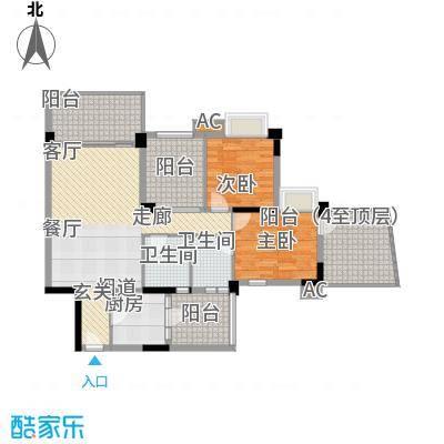 广州雅居乐花园浅山小筑100.00㎡面积10000m户型