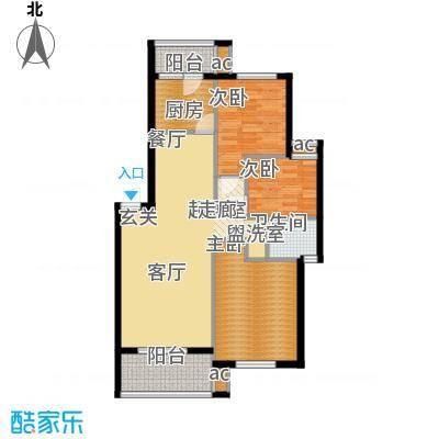 广华苑80.00㎡面积8000m户型