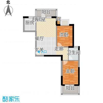 龙源映象86.40㎡5号楼C3户型