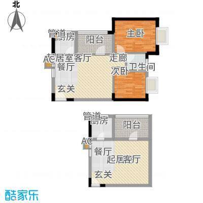 龙源映象68.14㎡1、2、3、4号楼A5户型