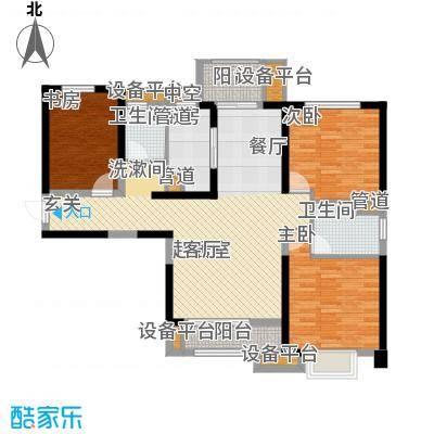 中海琴台华府125.00㎡一期5、6号楼A户型