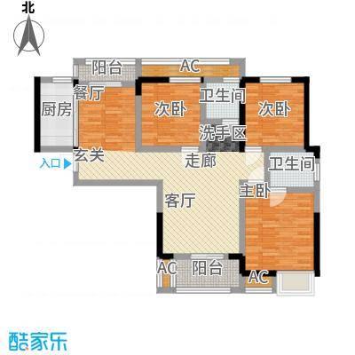 中国铁建梧桐苑107.01㎡3号楼G1户型