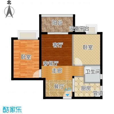 滨江水恋79.00㎡07单位1面积7900m户型