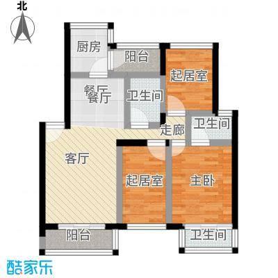纵横白领公寓88.00㎡面积8800m户型