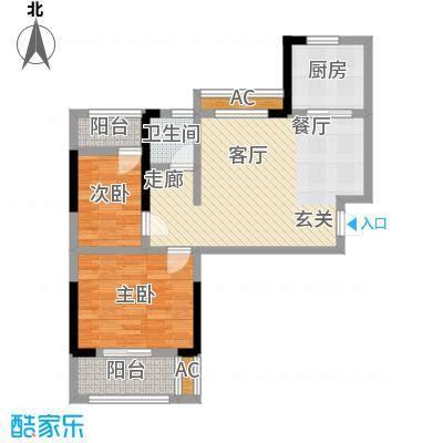 中国铁建梧桐苑76.22㎡3号楼G3户型