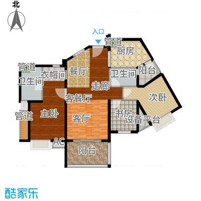 滨江水恋111.10㎡3面积11110m户型