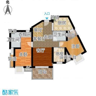 滨江水恋112.00㎡03单位2面积11200m户型
