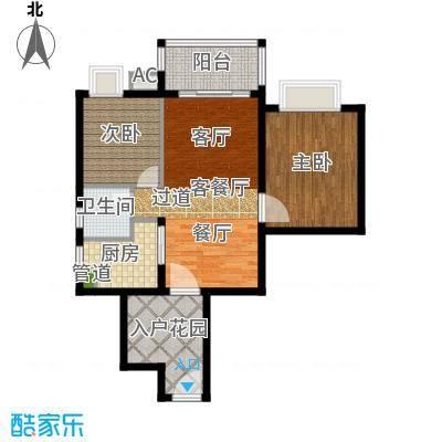 滨江水恋79.66㎡2面积7966m户型
