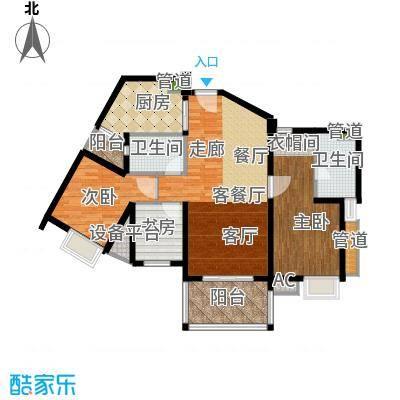 滨江水恋112.00㎡02单位2面积11200m户型