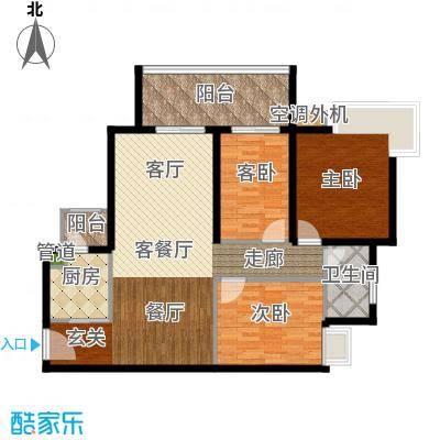 滨江水恋107.00㎡面积10700m户型