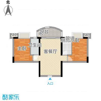 富力朗逸轩76.20㎡3-13层07单位面积7620m户型