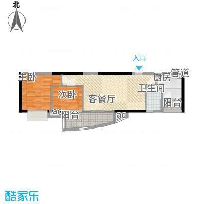 富力朗逸轩76.05㎡15-27层03单位面积7605m户型