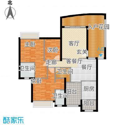广州雅居乐花园花巷159.39㎡RC3面积15939m户型