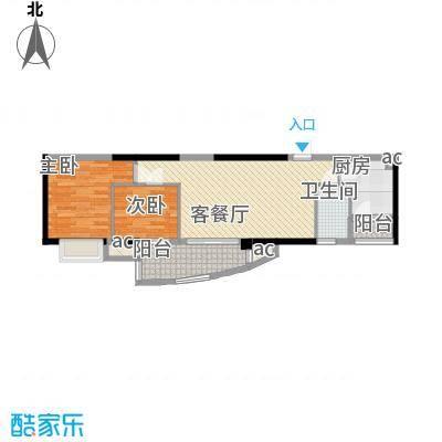 富力朗逸轩76.65㎡14层03单位2面积7665m户型