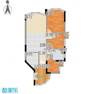 塞纳森晴95.00㎡塞纳宫园E面积9500m户型