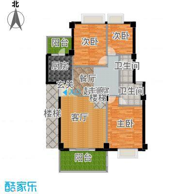金色华庭139.91㎡10-12栋042面积13991m户型