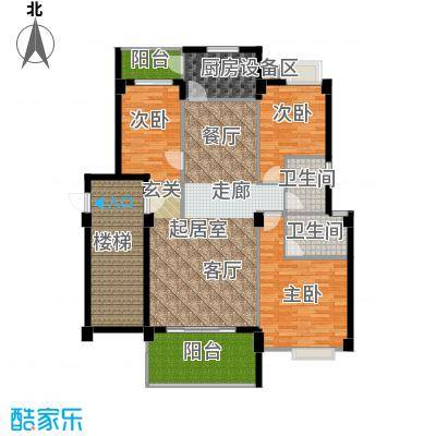 金色华庭143.46㎡1、9栋顶层043面积14346m户型
