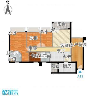 广州雅居乐花园花巷136.99㎡RB4面积13699m户型